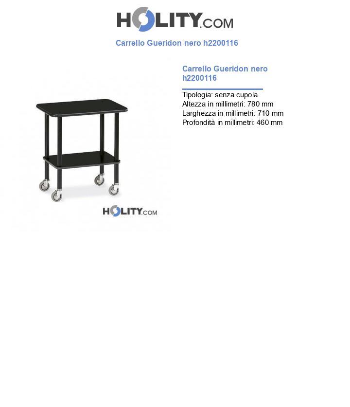 Carrello Gueridon nero h2200116