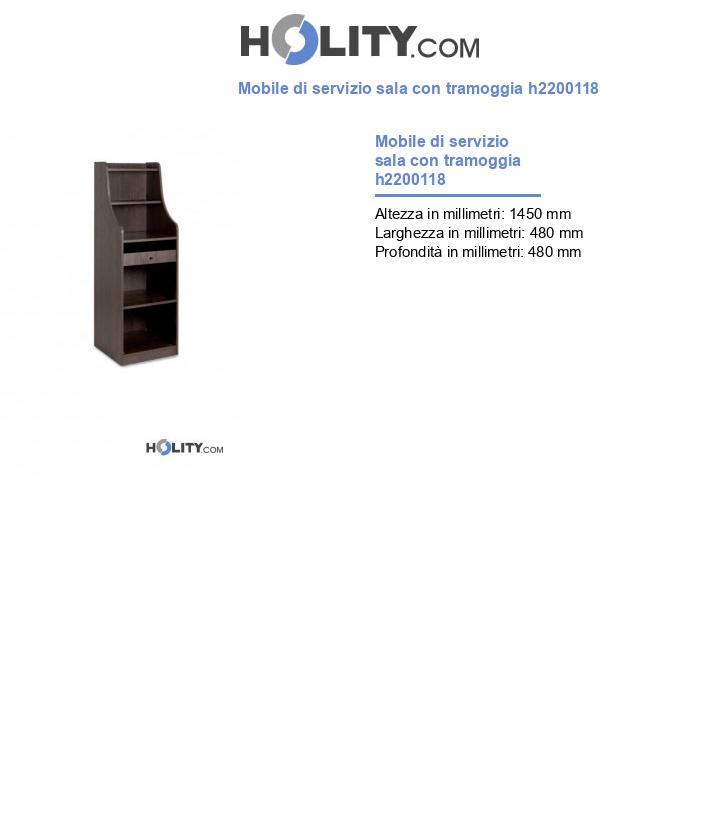 Mobile di servizio sala con tramoggia h2200118