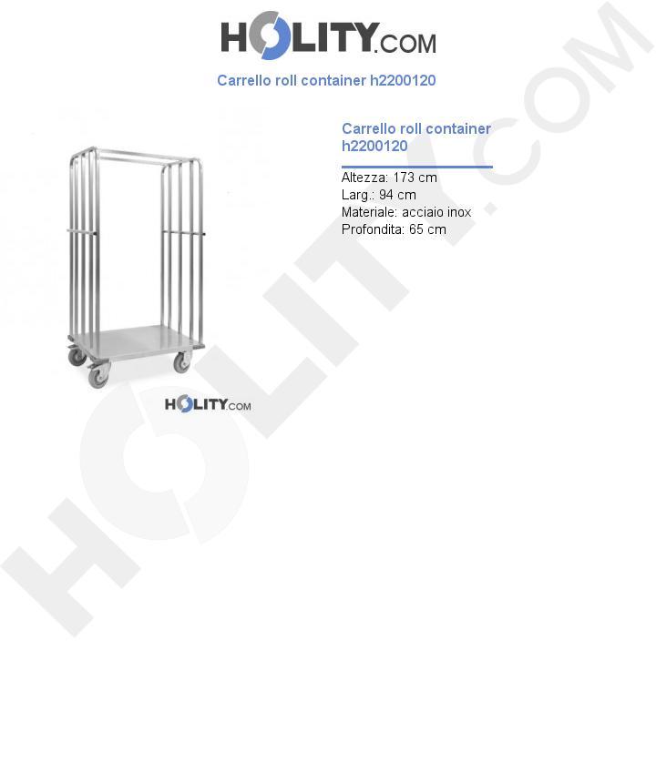 Carrello roll container h2200120