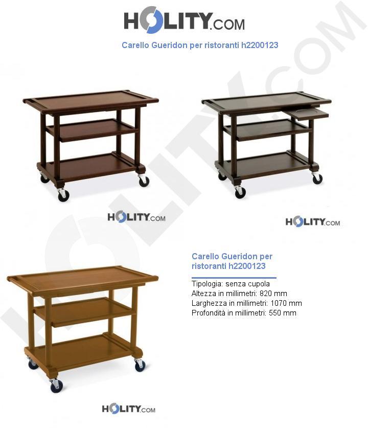 Carello Gueridon per ristoranti h2200123