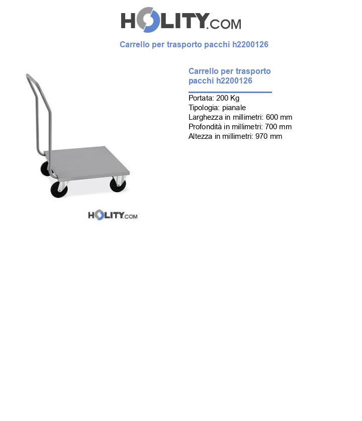 Carrello per trasporto pacchi h2200126