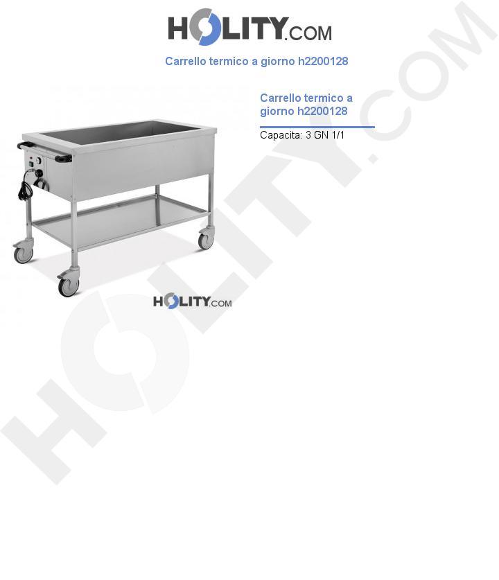Carrello termico portavivande h2200128