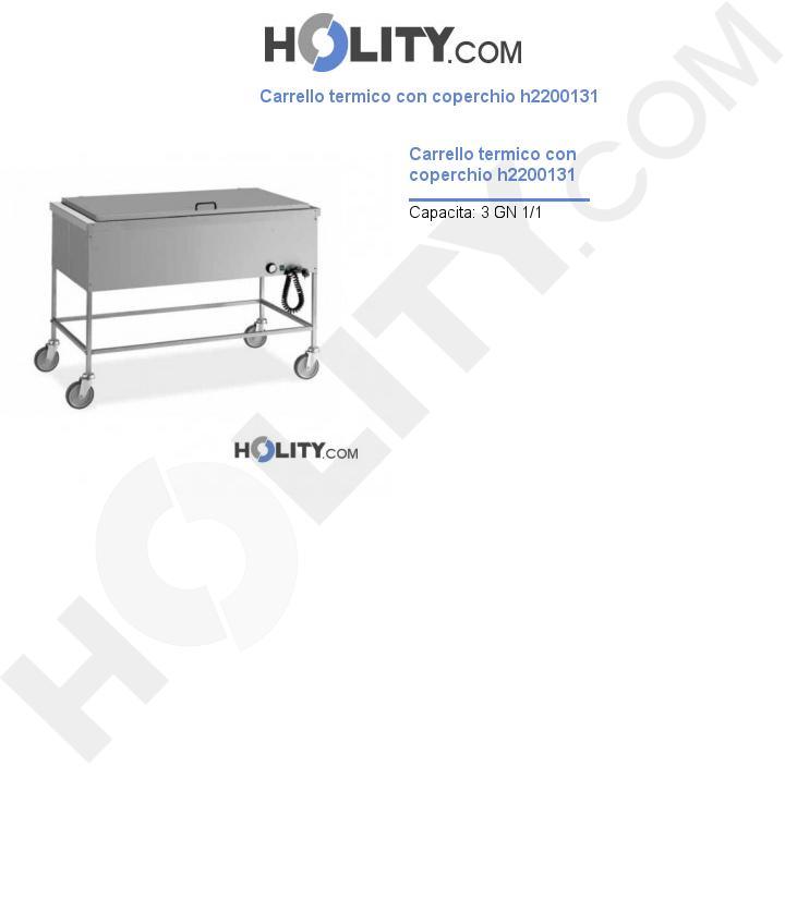 Carrello termico con coperchio h2200131
