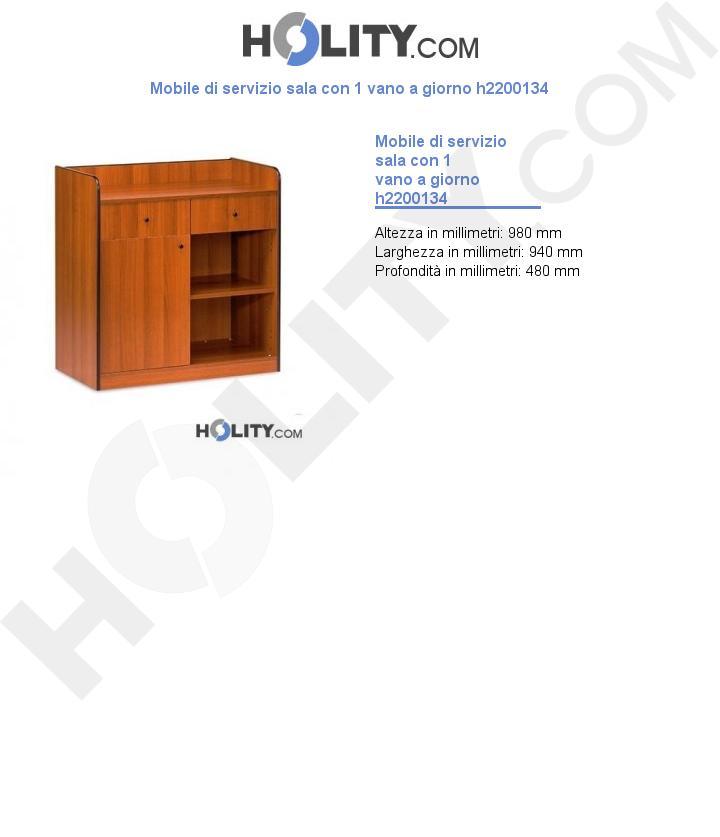Mobile di servizio sala con 1 vano a giorno h2200134