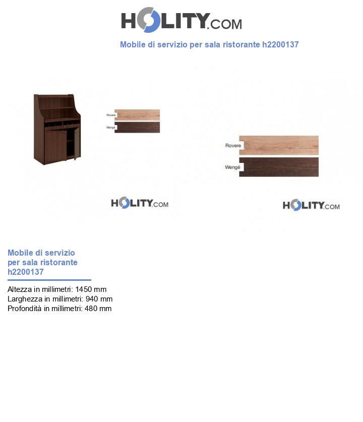 Mobile di servizio per sala ristorante h2200137