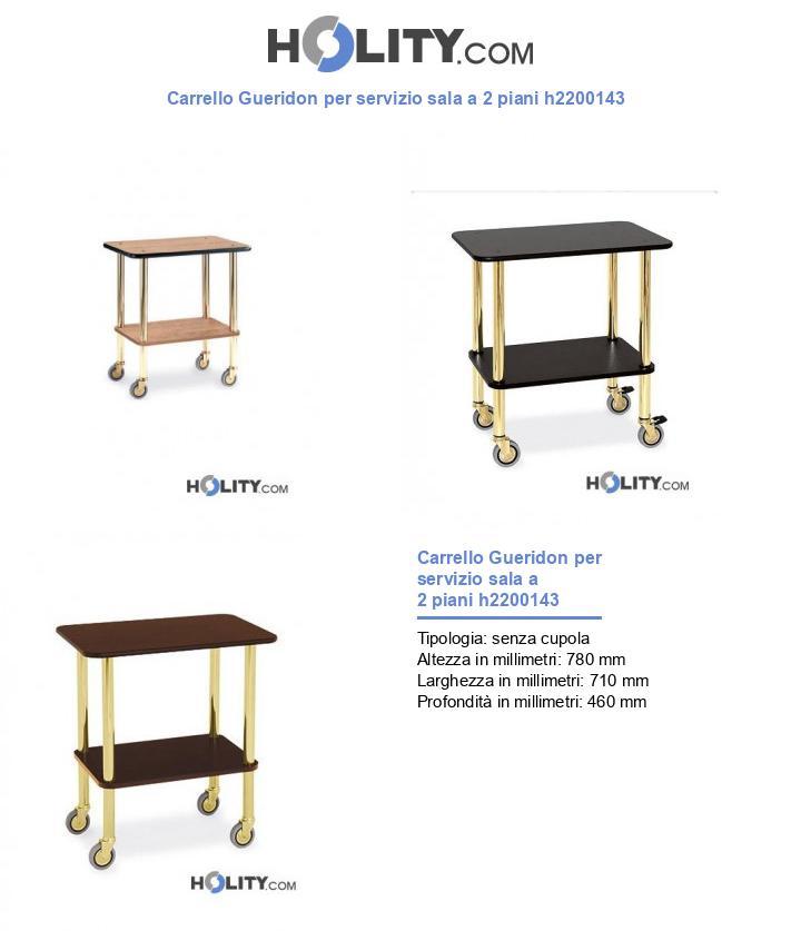 Carrello Gueridon per servizio sala a 2 piani h2200143