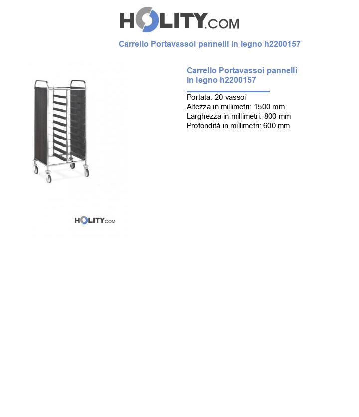 Carrello Portavassoi pannelli in legno h2200157