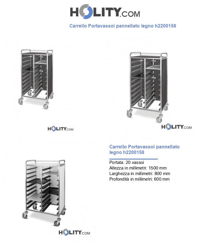 Carrello Portavassoi pannellato legno h2200158