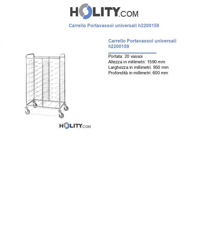Carrello Portavassoi universali h2200159