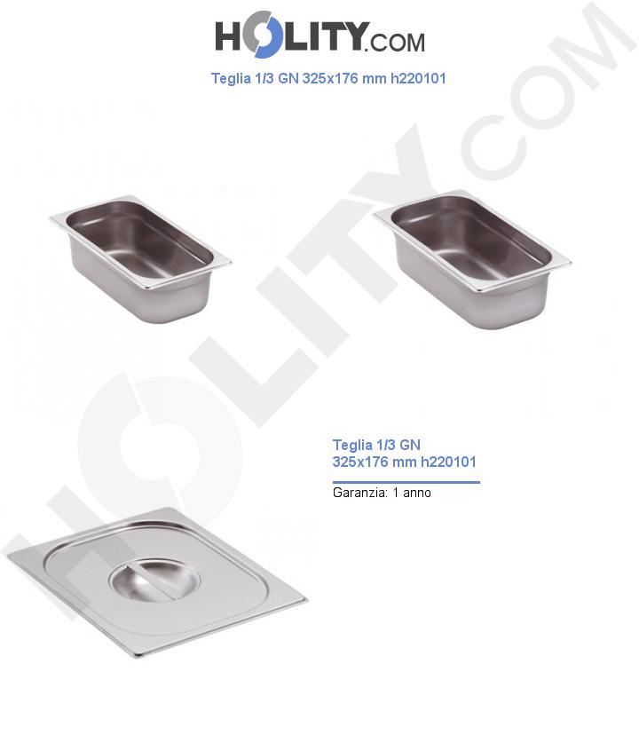 Teglia 1/3 GN 325x176 mm h220101