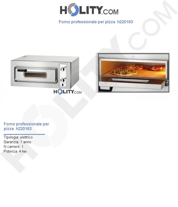 Forno professionale per pizza  h220163
