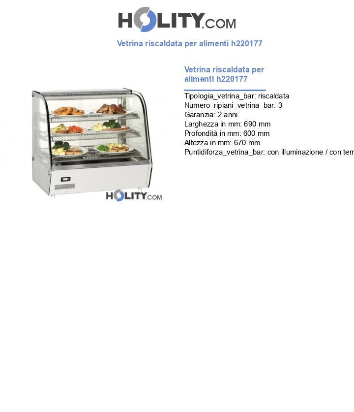 Vetrina riscaldata per alimenti h220177