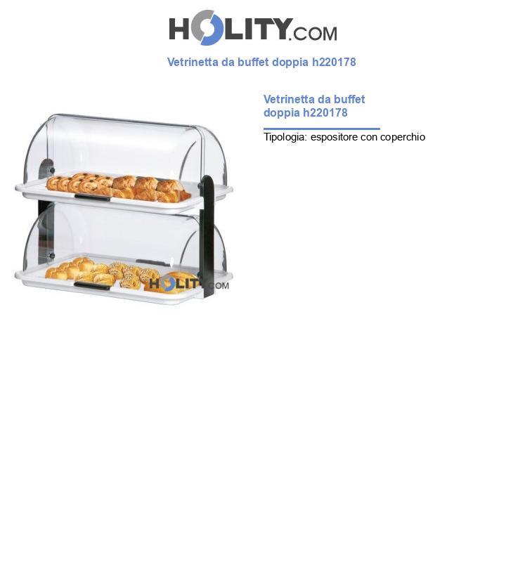 Vetrinetta da buffet doppia h220178
