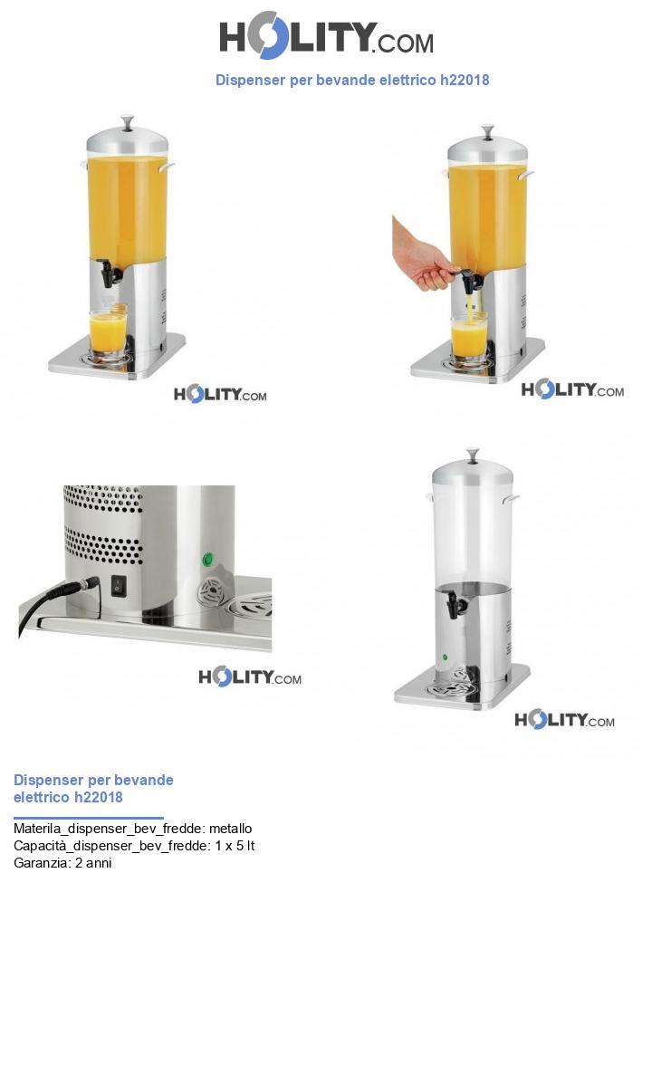 Dispenser per bevande elettrico h22018