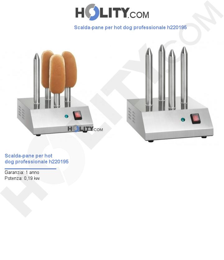Scalda-pane per hot dog professionale h220195