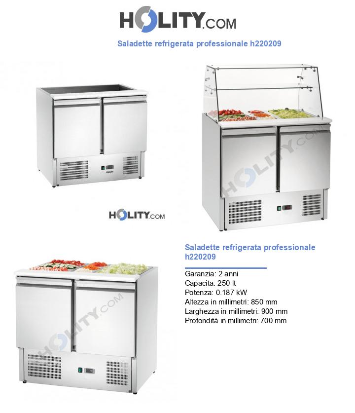 Saladette refrigerata professionale h220209