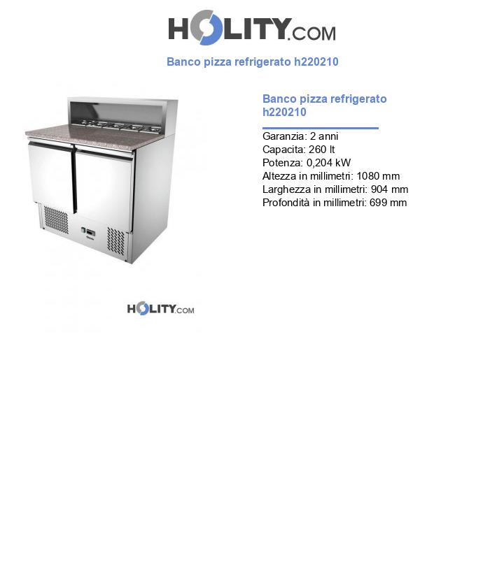 Banco pizza refrigerato h220210