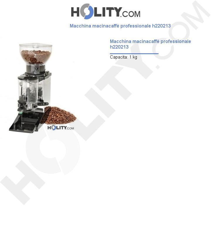Macchina macinacaffè professionale h220213