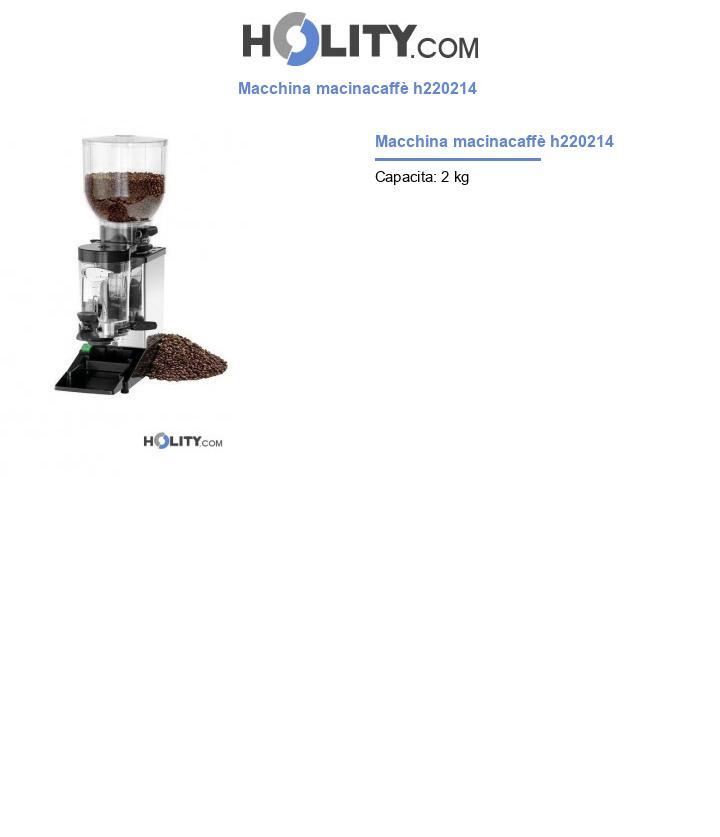 Macchina macinacaffè h220214