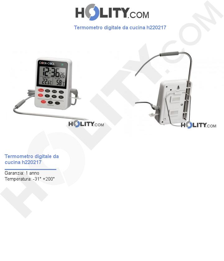 Termometro digitale da cucina h220217