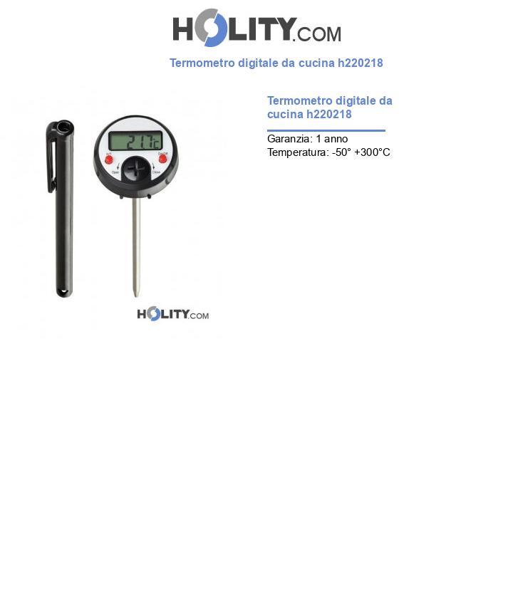 Termometro digitale da cucina h220218