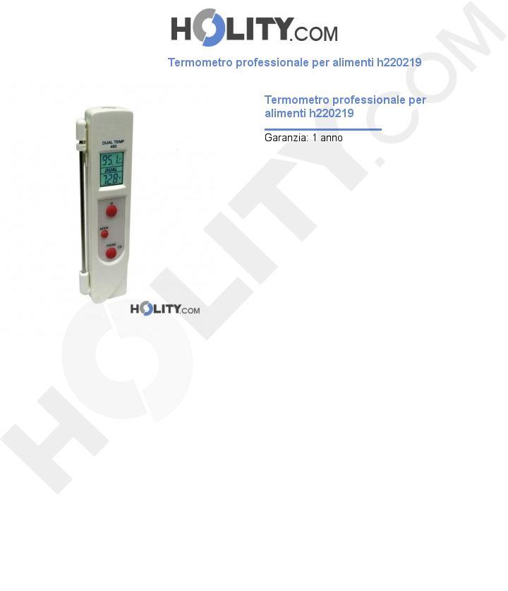 Termometro professionale per alimenti h220219