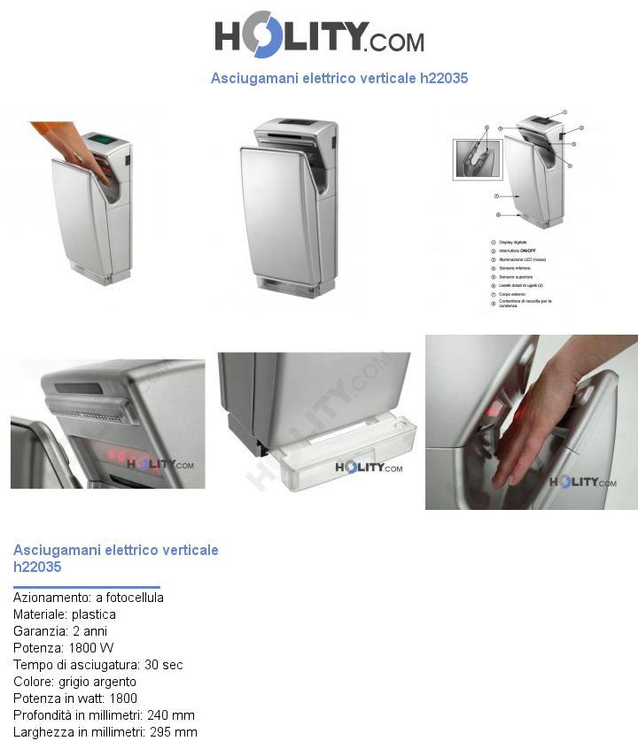 Asciugamani elettrico verticale h22035