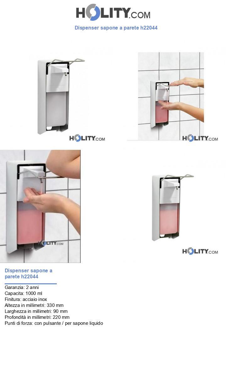 Dispenser sapone a parete h22044