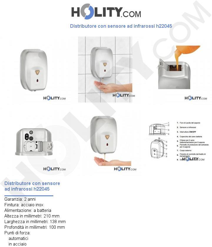 Distributore con sensore ad infrarossi h22045