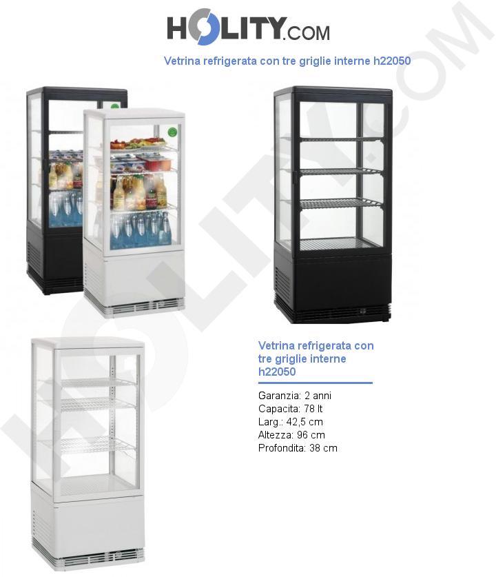 Vetrina refrigerata con tre griglie interne h22050
