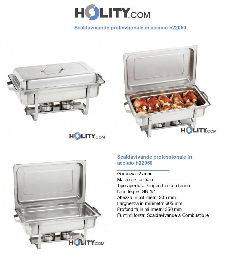 Scaldavivande professionale in acciaio h22060