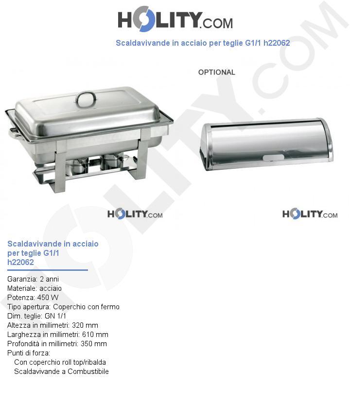 Scaldavivande in acciaio per teglie G1/1 h22062