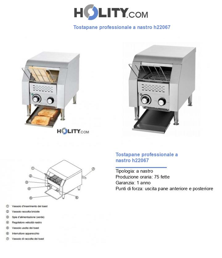 Tostapane professionale a nastro h22067