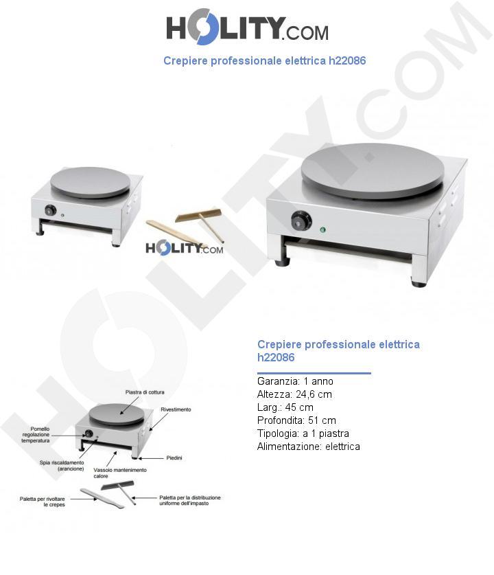 Crepiere professionale elettrica h22086