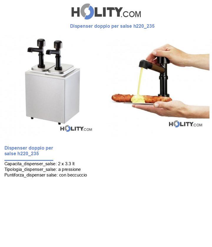 Dispenser doppio per salse h220_235