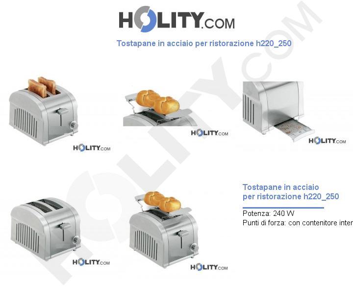 Tostapane in acciaio per ristorazione h220_250