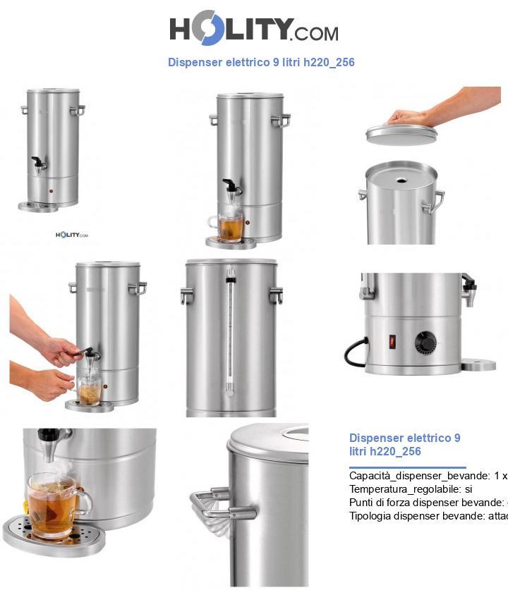 Dispenser elettrico 9 litri h220_256
