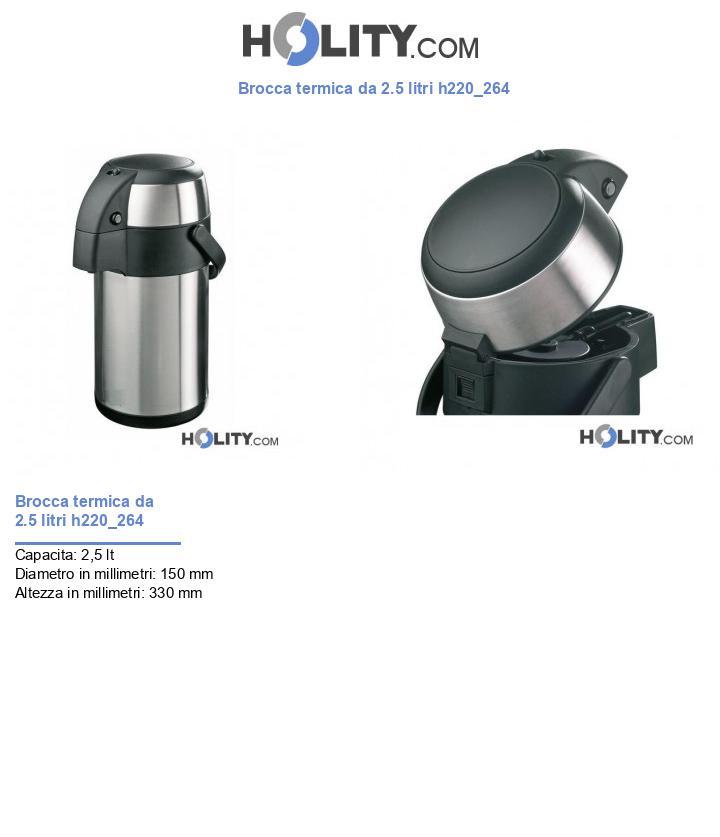 Brocca termica da 2.5 litri h220_264