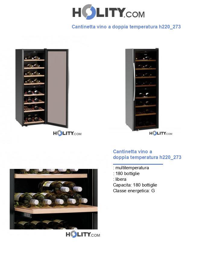 Cantinetta vino a doppia temperatura h220_273