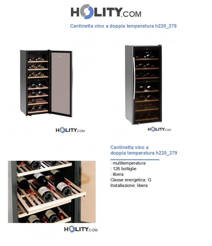 Cantinetta vino a doppia temperatura h220_279