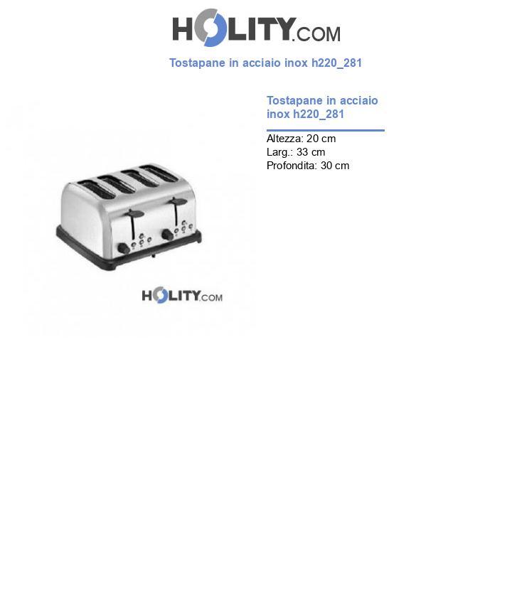 Tostapane in acciaio inox h220_281
