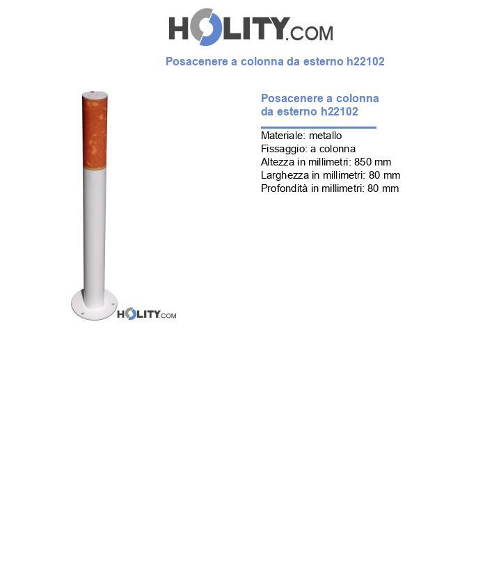 Posacenere a colonna da esterno h22102