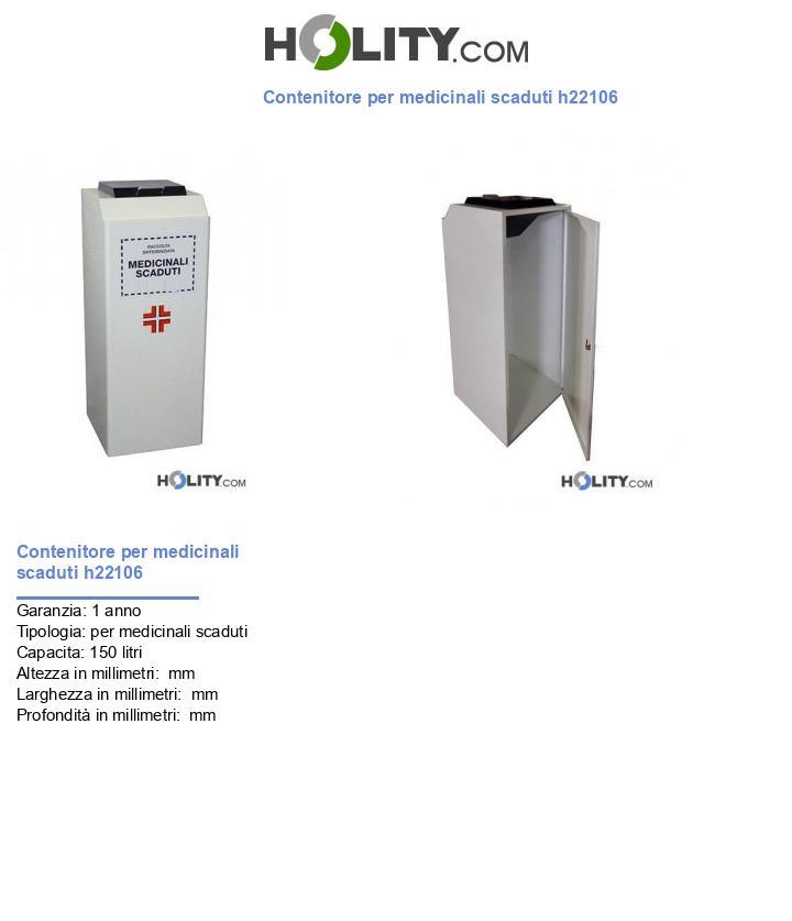 Contenitore per medicinali scaduti h22106