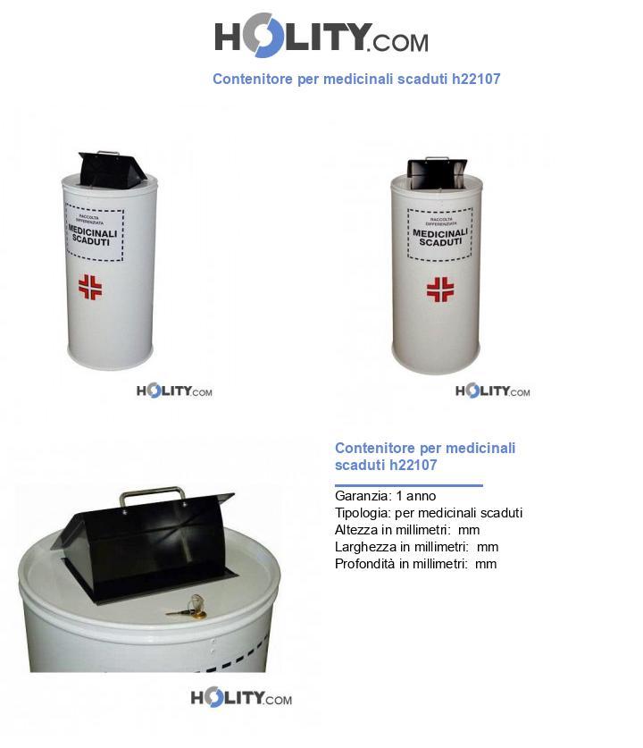 Contenitore per medicinali scaduti h22107