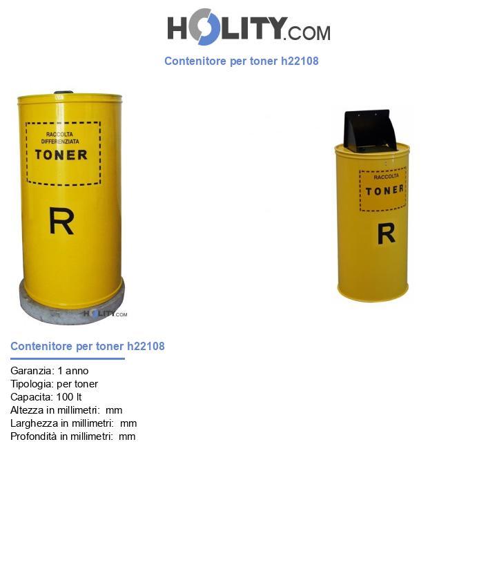 Contenitore per toner h22108