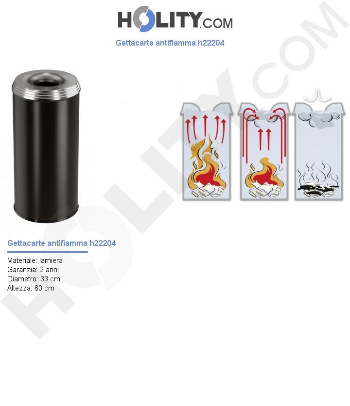 Gettacarte antifiamma h22204