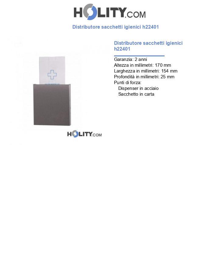Distributore sacchetti igienici h22401