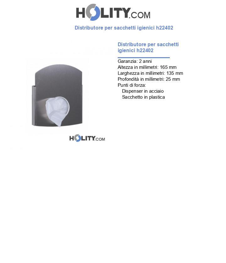 Distributore per sacchetti igienici h22402