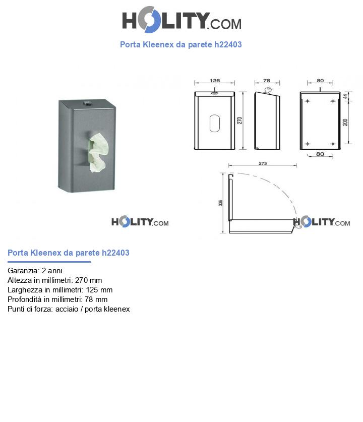 Porta Kleenex da parete h22403