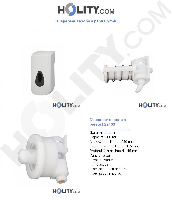 Dispenser sapone a parete h22406